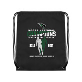 Black Drawstring Backpack-NCCAA National Champions Mens Outdoor Track and Field back to back