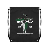 Black Drawstring Backpack-NCCAA National Champions Womens Outdoor Track and Field back to back