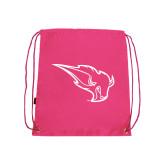 Pink Drawstring Backpack-Power Bison