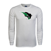 White Long Sleeve T Shirt-Power Bison