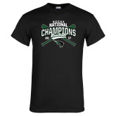 Black T Shirt-2017 NCCAA National Champions - Baseball Crossed Bats
