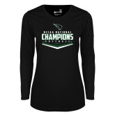 Ladies Syntrel Performance Black Longsleeve Shirt-2017 NCCAA National Softball Champions