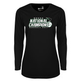 Ladies Syntrel Performance Black Longsleeve Shirt-2017 NCCAA National Baseball Champions
