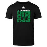 Adidas Black Logo T Shirt-Cheer Stacked