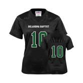 Ladies Black Replica Football Jersey-#10