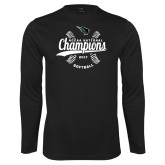 Syntrel Performance Black Longsleeve Shirt-2017 NCCAA National Softball Champions