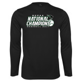 Syntrel Performance Black Longsleeve Shirt-2017 NCCAA National Baseball Champions