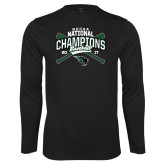 Syntrel Performance Black Longsleeve Shirt-2017 NCCAA National Champions - Baseball Crossed Bats