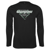 Syntrel Performance Black Longsleeve Shirt-2017 NCCAA National Champions - Baseball Script