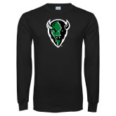 Black Long Sleeve T Shirt-Charging Bison