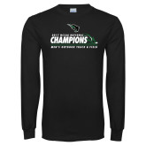 Black Long Sleeve T Shirt-NCCAA National Champions Mens Outdoor Track and Field