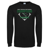 Black Long Sleeve T Shirt-2017 NCCAA National Softball Champions