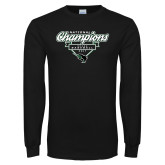Black Long Sleeve T Shirt-2017 NCCAA National Champions - Baseball Script