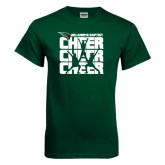 Dark Green T Shirt-Cheer Stacked