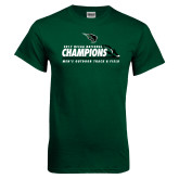 Dark Green T Shirt-NCCAA National Champions Mens Outdoor Track and Field
