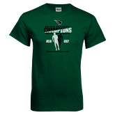 Dark Green T Shirt-NCCAA National Champions Mens Outdoor Track and Field back to back
