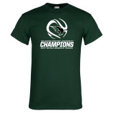 Dark Green T Shirt-NCCAA Womens Tennis Champions 2017