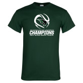 Dark Green T Shirt-NCCAA Mens Tennis Champions 2017