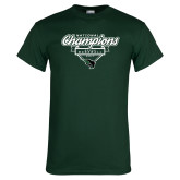 Dark Green T Shirt-2017 NCCAA National Champions - Baseball Script