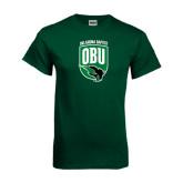 Dark Green T Shirt-Shield Logo