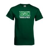 Dark Green T Shirt-Track & Field