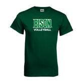 Dark Green T Shirt-Volleyball
