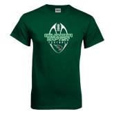 Dark Green T Shirt-Oklahoma Football Vertical