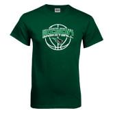Dark Green T Shirt-Bison Basketball w/ Ball