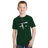 Youth Dark Green T Shirt-NCCAA National Champions Mens Outdoor Track and Field back to back