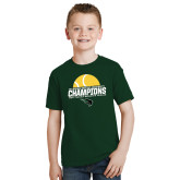 Youth Dark Green T Shirt-NCCAA Womens Tennis Champions 2017 - Half Ball