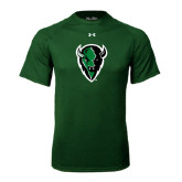 Under Armour Dark Green Tech Tee-Charging Bison