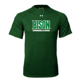 Under Armour Dark Green Tech Tee-Swimming & Diving