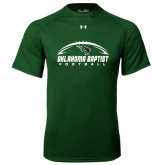 Under Armour Dark Green Tech Tee-Oklahoma Football Horizontal