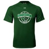 Under Armour Dark Green Tech Tee-Bison Basketball w/ Ball