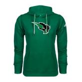 Adidas Climawarm Dark Green Team Issue Hoodie-Power Bison