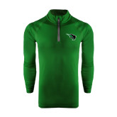 Under Armour Dark Green Tech 1/4 Zip Performance Shirt-Power Bison
