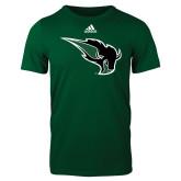 Adidas Dark Green Logo T Shirt-Power Bison