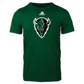 Adidas Dark Green Logo T Shirt-Charging Bison