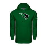 Under Armour Dark Green Performance Sweats Team Hoodie-Power Bison