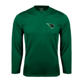 Syntrel Performance Dark Green Longsleeve Shirt-Power Bison
