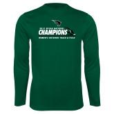 Performance Dark Green Longsleeve Shirt-NCCAA National Champions Womens Outdoor Track and Field