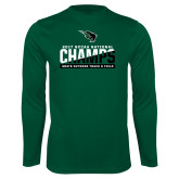 Syntrel Performance Dark Green Longsleeve Shirt-NCCAA National Champions Mens Outdoor Track and Field