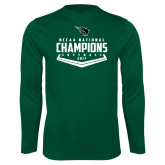 Syntrel Performance Dark Green Longsleeve Shirt-2017 NCCAA National Softball Champions