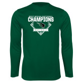 Performance Dark Green Longsleeve Shirt-2017 NCCAA National Softball Champions