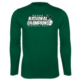 Syntrel Performance Dark Green Longsleeve Shirt-2017 NCCAA National Baseball Champions