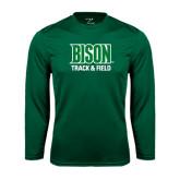 Performance Dark Green Longsleeve Shirt-Track & Field