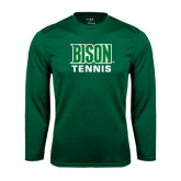 Syntrel Performance Dark Green Longsleeve Shirt-Tennis