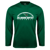 Syntrel Performance Dark Green Longsleeve Shirt-Oklahoma Football Horizontal