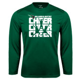 Syntrel Performance Dark Green Longsleeve Shirt-Cheer Stacked