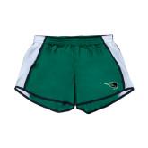 Ladies Dark Green/White Team Short-Power Bison